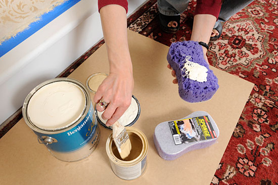 sponging faux finish how to