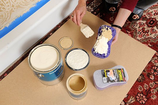 sponging faux finish stencil