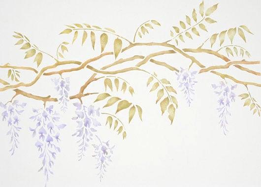 wisteria stencil