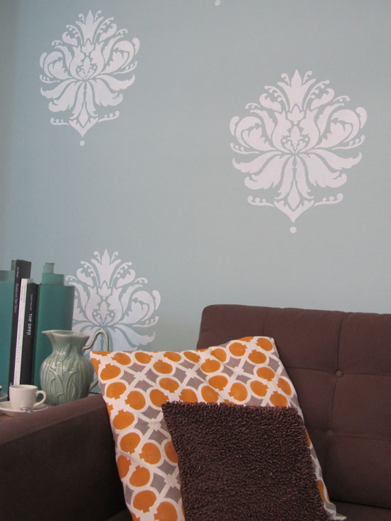 Stenciled Accent Pillows