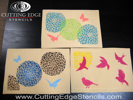stenciled placemats