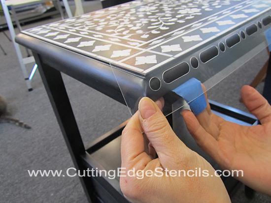 Furniture-Stenciling-Masking