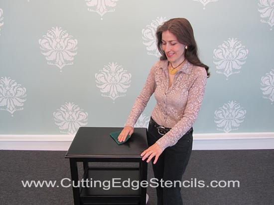 Furniture--Stenciling-Prep