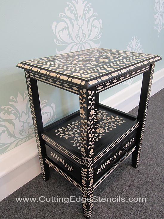 Indian-Inlay-Furniture-Stencil