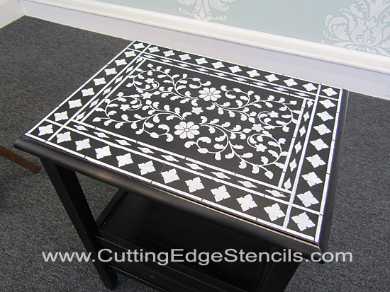 Indian-Inlay-Stencil-Top