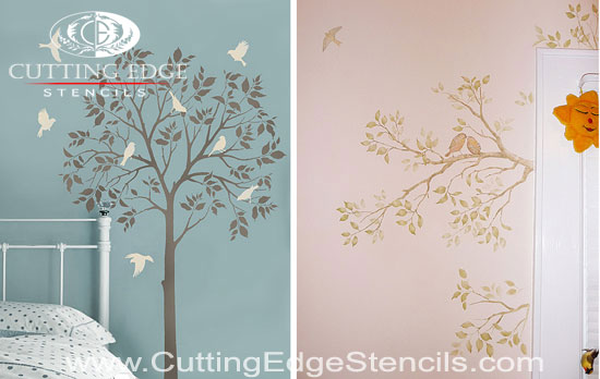 wall stencil large tree