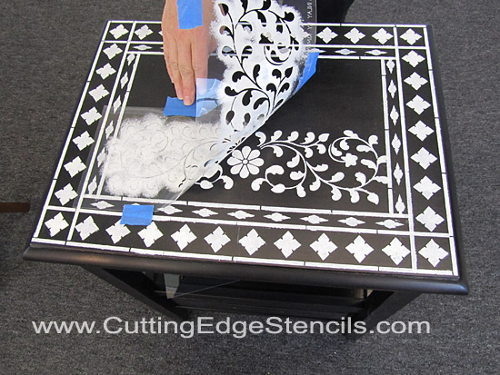 Incroyable Stenciled Furniture Inlay Top