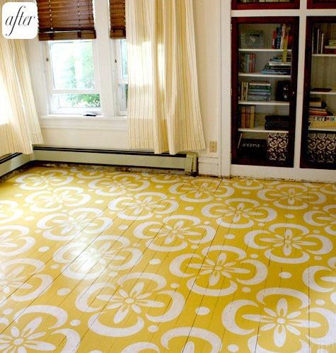 DIY stencil floor