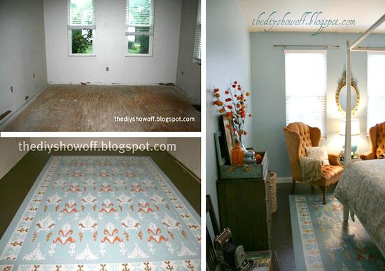 Ikat stencil pattern DIY decor