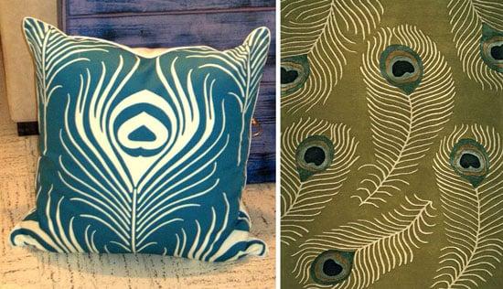 peacock stencil DIY