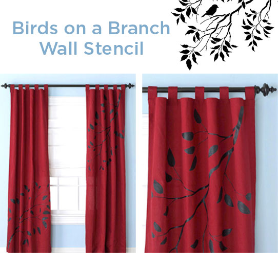 stencil decorating ideas diy curtains