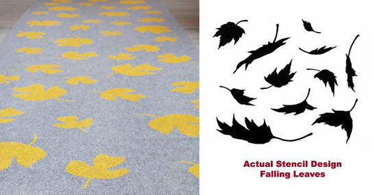 Falling Leaves Stencil for rugs
