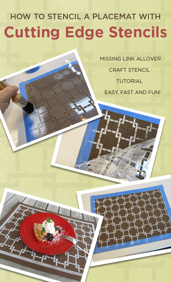 DIY stencil decorating ideas for kitchen decor