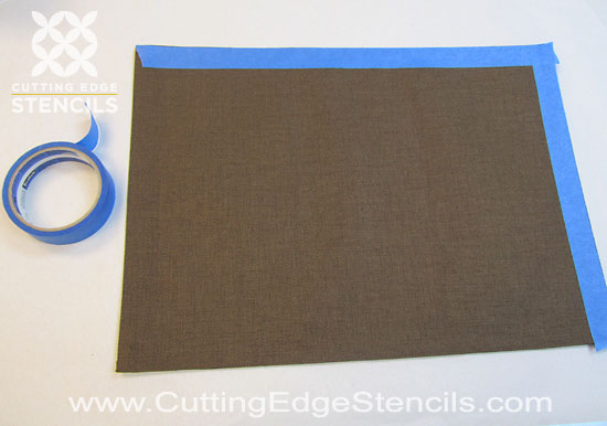 DIY stenciled placemats for home decor