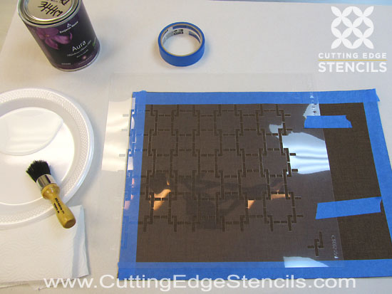 Craft stencil placemat DIY project