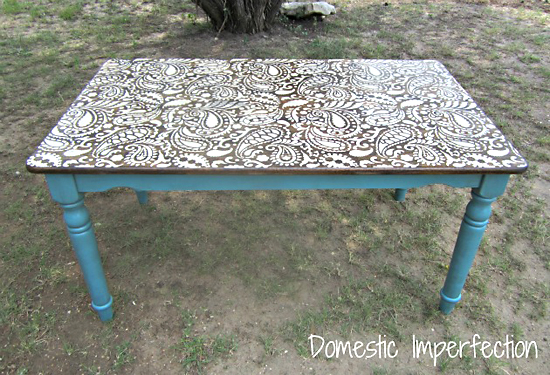 Beau Paisley Stencil For DIY Furniture Painting Ideas