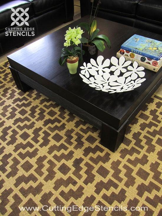 DIY-home-decor-stenciled-rug-tutorial