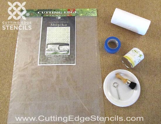 Home Decor Stencil Tutorial: DIY Designer Rug
