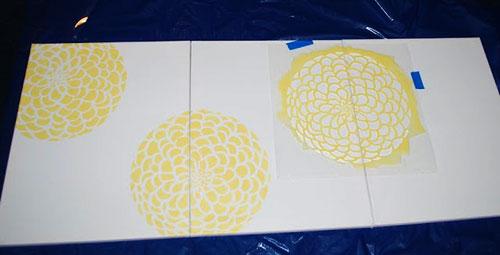 Flower Stencil DIY