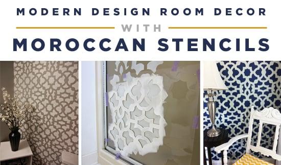 Modern Design Room Decor With Moroccan Stencils