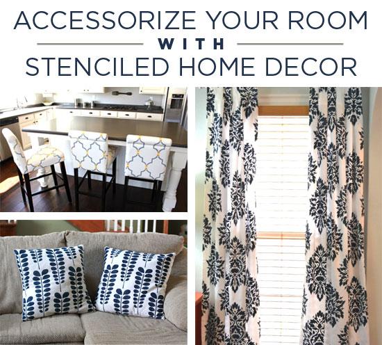 Accessorizing with stenciled Home Decor