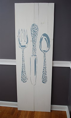 Merveilleux Awesome Kitch Decor Stenciled With Bon Appetit Stencil
