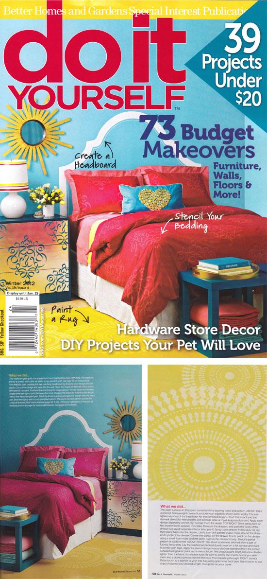 Cutting Edge Stencils featured in DIY Magazine!