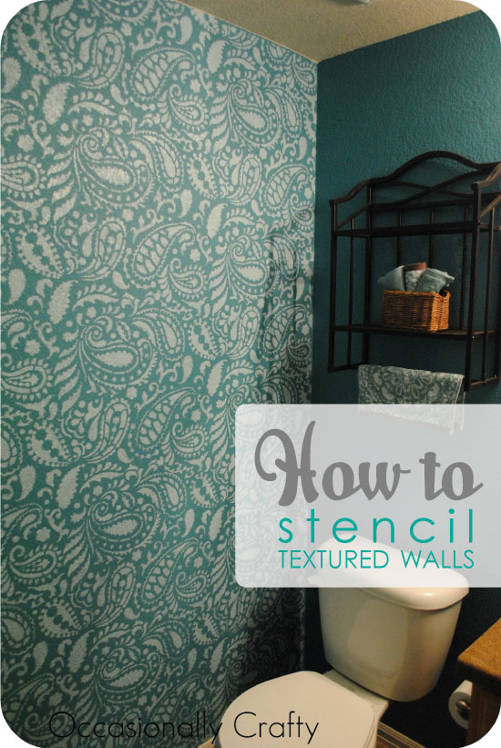 Stenciling A Textured Wall With Painting Stencils Stencil