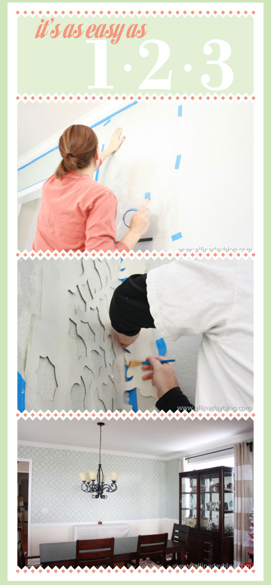 Stenciling is easy as 1,2,3 with Cutting Edge Stencils