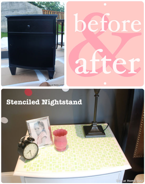 Using diy craft stencils to create green bedroom home decor for Stay at home craft jobs