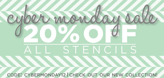 Cyber Monday 20% off Sale at Cutting Edge Stencils