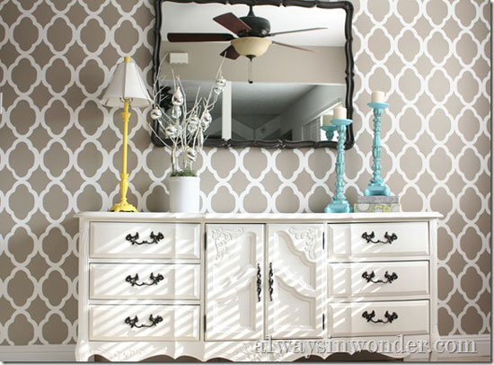 Gorgeous Rabat Allover Stenciled Room