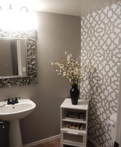 DIY Bathroom Makeover Using Stencils