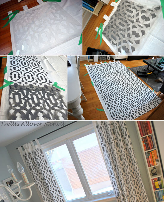 Awesome Trellis Allover Stenciled Curtains