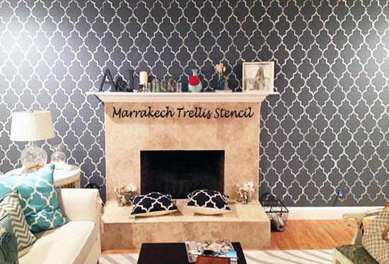 Moroccan stencil ideas for your walls!