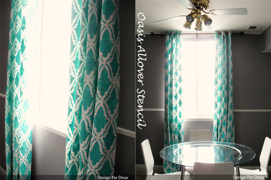 Oasis Allover Stenciled Curtains