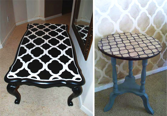 Stenciling Tabletops With Cutting Edge Stencils Stencil Stories