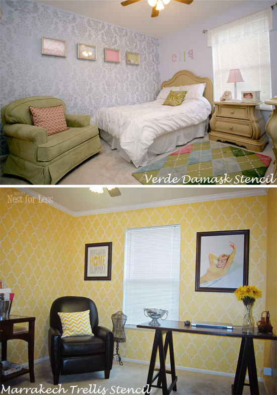 Stenciling Multiple Rooms in your home with Cutting Edge Stencils