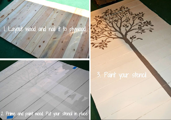How to create a stenciled family tree