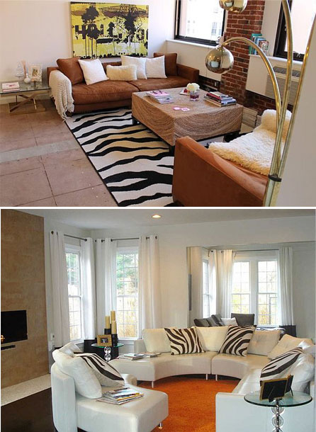 Rooms with Zebra print home decor