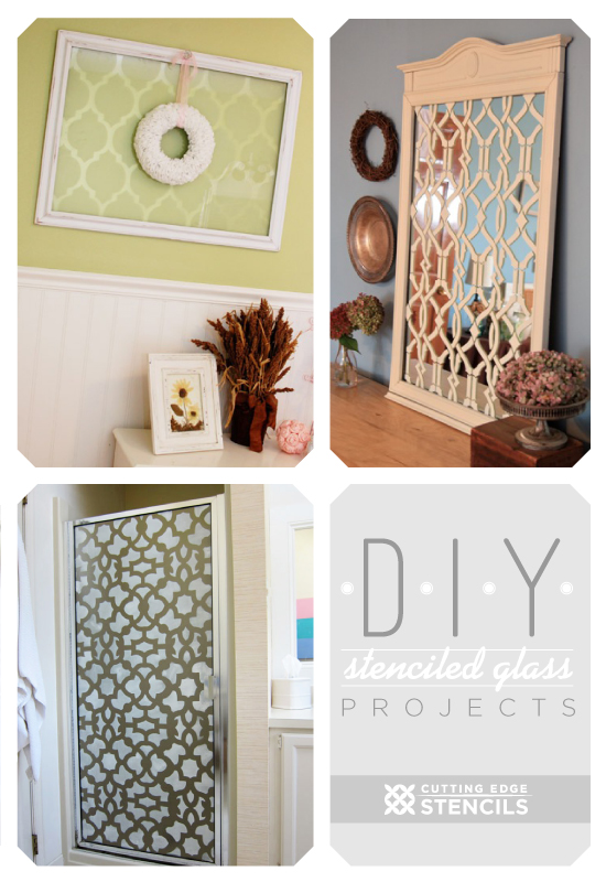 Stenciling On Glass Successful Projects From Diyers