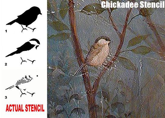 Chickadee Bird Stencil from Cutting Edge Stencils
