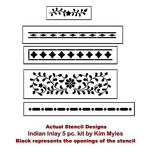 Cutting Edge Stencils' Indian Inlay Stencil Kit (actual stencil)