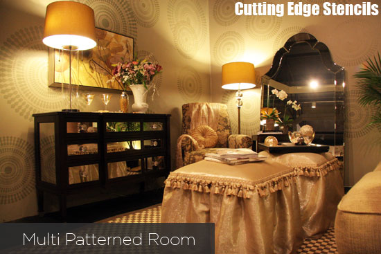 Stencil with multiple patterns and create a perfectly layered room!