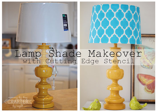 Makeover your lampshade using CEStencils Moroccan Stencils