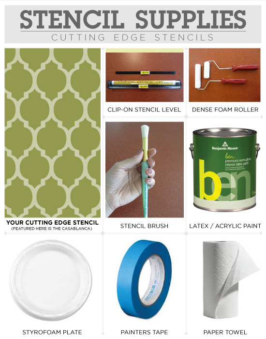 The supplies need to stencil perfectly with Cutting Edge Stencils' designs