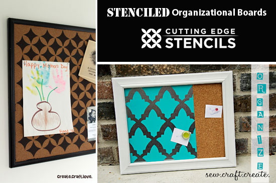 Organize your stuff with stenciled boards like these with Cutting Edge Stencils!