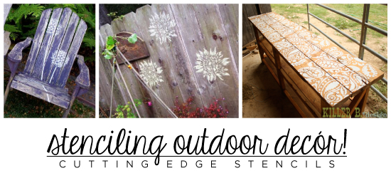 Decorate your outdoor decor with Cutting Edge Stencils