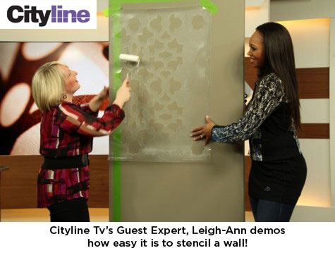 Leigh-Ann stencils her Zamira stencil on Cityline TV!