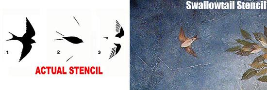 Swollowtail Stencils from Cutting Edge Stencils